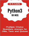 Python3 Multiple Choice Questions Answers for Jobs, Tests and Quizzes