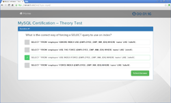 Example MySQL certification theory test